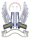 Het embleem van het kanon en van de kogel Royalty-vrije Stock Fotografie