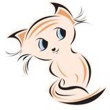 Het embleem van het katje Royalty-vrije Stock Afbeeldingen