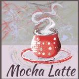 Het embleem van het koffiepictogram voor koffie, bar, winkel Royalty-vrije Stock Foto's