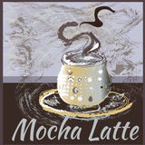 Het embleem van het koffiepictogram voor koffie, bar, winkel Royalty-vrije Stock Foto