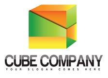Het embleem van het kubusbedrijf Stock Afbeeldingen