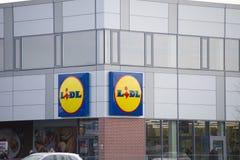 Het embleem van het merk LIDL Royalty-vrije Stock Fotografie