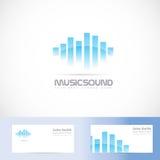 Het embleem van het muziek correcte volume Royalty-vrije Stock Afbeelding