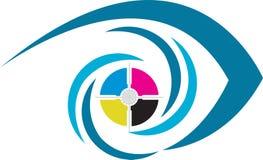 Het embleem van het oog Stock Afbeelding