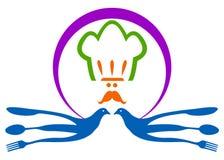 Het embleem van het restaurant Stock Afbeeldingen
