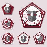 Het Embleem van het rinocerosvolleyball Royalty-vrije Stock Afbeelding