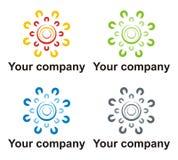 Het embleem van het schone energiebedrijf Stock Foto