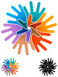 Het embleem van het teamwerk Stock Fotografie