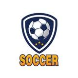 Het embleem van het voetbal Stock Foto