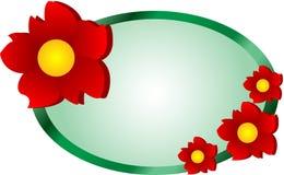 Het Embleem van het Web van de bloem Stock Fotografie