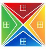 Het embleem van huizen Royalty-vrije Stock Afbeeldingen