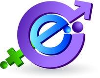 Het embleem van Internet Stock Foto