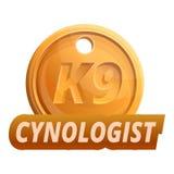 Het embleem van K9cynologist, beeldverhaalstijl royalty-vrije illustratie
