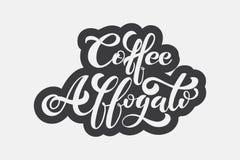 Het embleem van koffieaffogato Types van koffie Royalty-vrije Illustratie