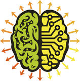 Het embleem van machtshersenen stock illustratie