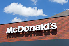 Het embleem van Mc Donald's Royalty-vrije Stock Foto