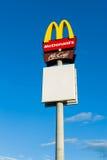 Het Embleem van Mc Donald's stock foto