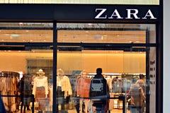 Het embleem van het merk Zara Bedrijfuithangbord Zara Royalty-vrije Stock Afbeelding