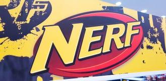Het embleem van het Nerfspeelgoed stock afbeelding