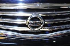 Het embleem van Nissan Stock Foto