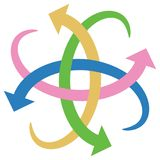 Het embleem van pijlen stock illustratie