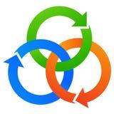 Het embleem van pijlen Royalty-vrije Stock Afbeeldingen