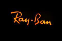 Het embleem van Ray Ban Stock Foto's
