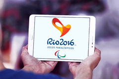 Het embleem van Rio 2016 van Paralympicspelen Stock Fotografie