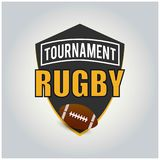 Het Embleem van rugbytoernooien, Amerikaans Logo Sport vector illustratie