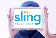 Het embleem van slingertv Stock Foto's