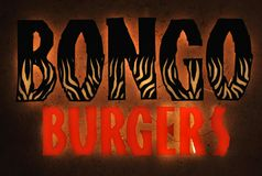 Het embleem van het het snelle voedselrestaurant van Bongoburgers royalty-vrije stock fotografie