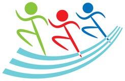 Het embleem van sporten stock illustratie