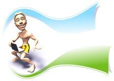 Het embleem van Surfer Stock Afbeelding