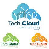 Het Embleem van technologie Stock Foto