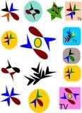 het embleem van televisiekanalen Stock Foto's