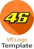 Het embleem van Valentino Rossi en van het malplaatje stock afbeeldingen