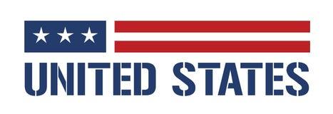Het embleem van Verenigde Staten Stock Fotografie