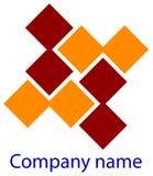 Het embleem van vierkanten Royalty-vrije Stock Afbeelding
