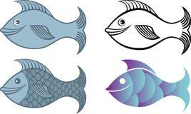 Het embleem van vissen Stock Foto's