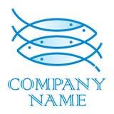 Het Embleem van vissen Stock Afbeelding