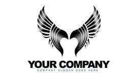 Het Embleem van vleugels Royalty-vrije Stock Afbeeldingen