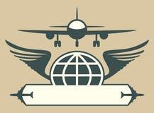 Het embleem van vliegtuigen Stock Foto's