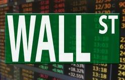Het embleem van Wall Street op de index van de voorraadmarktprijs Royalty-vrije Stock Foto