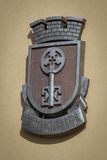 Het embleem van wapenschildhaskovo Bulgarije Stock Foto