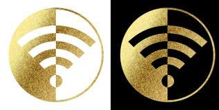 Het embleem van WiFi Royalty-vrije Stock Foto