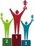 Het embleem van winnaars Royalty-vrije Stock Afbeeldingen