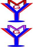 Het embleem van Ymgbrieven Royalty-vrije Stock Foto