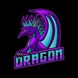 Het embleem vectorillustratie van het draakgokken vector illustratie