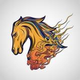 Het embleem vectorpictogram van de paardtatoegering stock foto's
