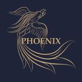 Het embleem vectorpictogram van Phoenix Royalty-vrije Stock Afbeeldingen